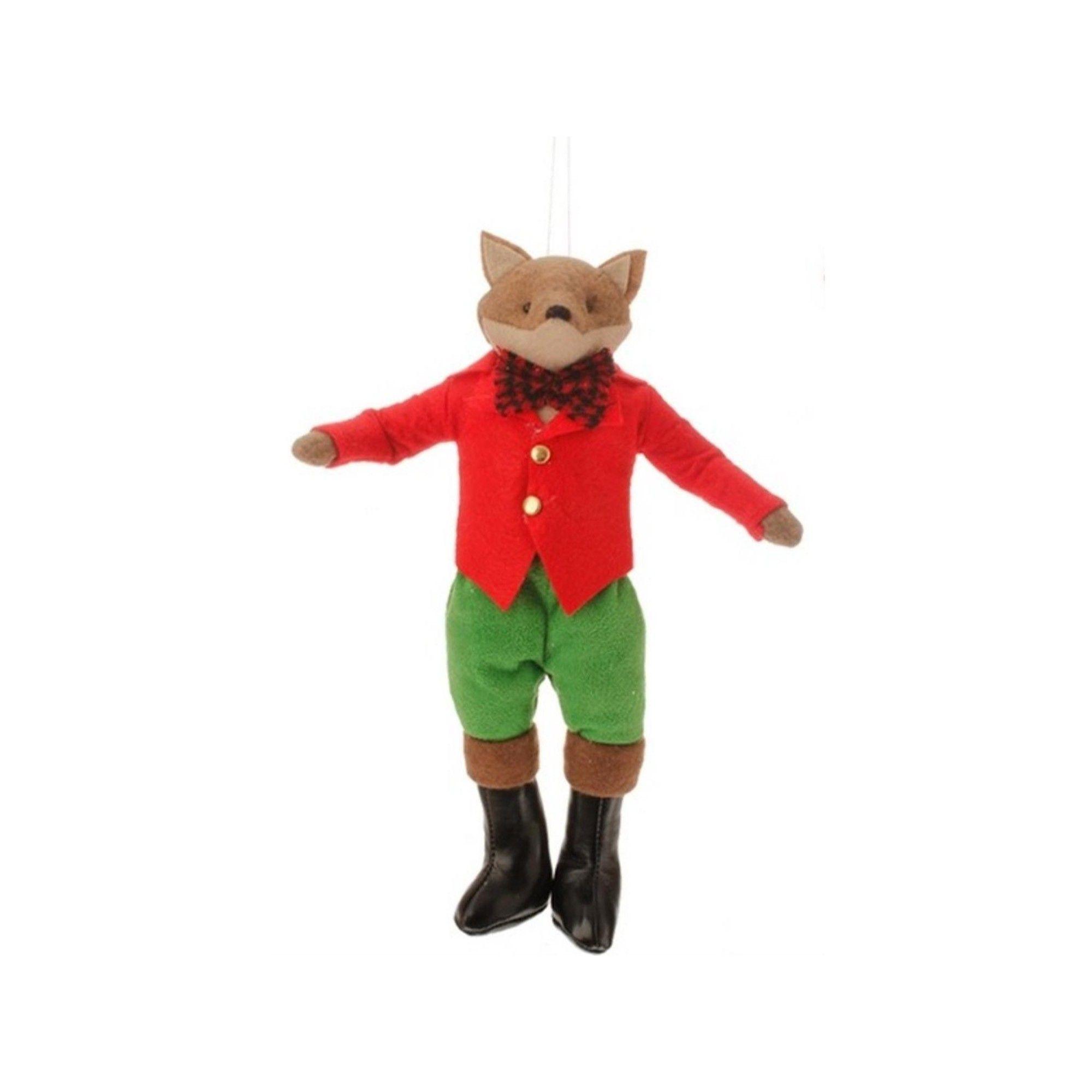 Raz Imports 10 Christmas Traditions Holiday Boy Fox Plush Christmas