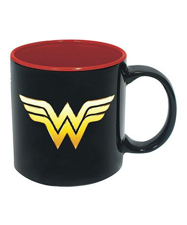Another great find on zulily Black & Red Wonder Woman Mug
