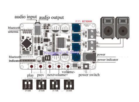 TDA7492P 50W+50W Wireless Bluetooth 4 0 Audio Receiver