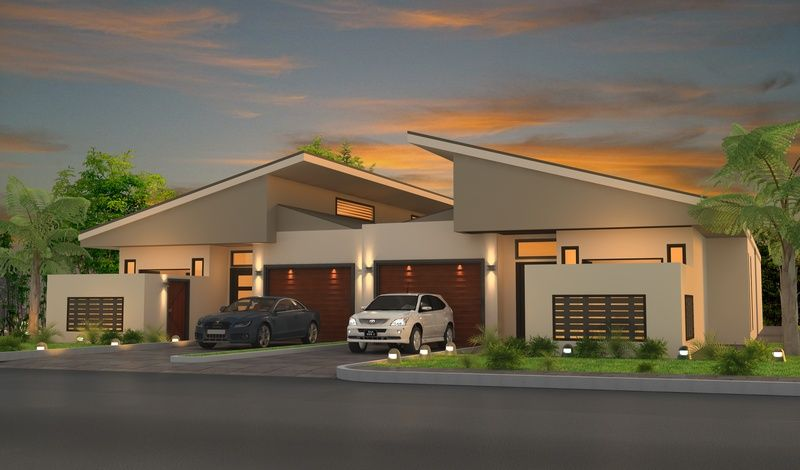 3d architectural visualisation duplex design for for Modern duplex house plans in nigeria