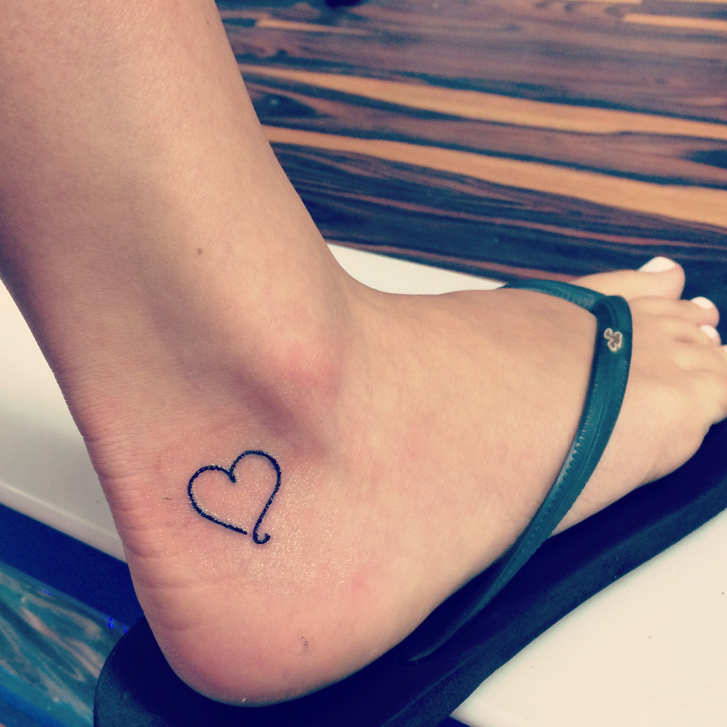 101 Best Foot Tattoo Designs And Ideas With Significant: Small Heart Ankle Tattoo