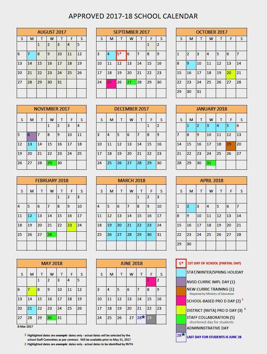 North Vancouver School District Calendar 2017 2018   News to Go