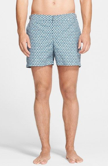 07f3777c37b67 1950s style retro swimshorts. Men's Orlebar Brown 'Setter - Nautilus' Swim  Trunks