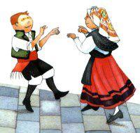 Resultado de imagen de baile gallego dibujo