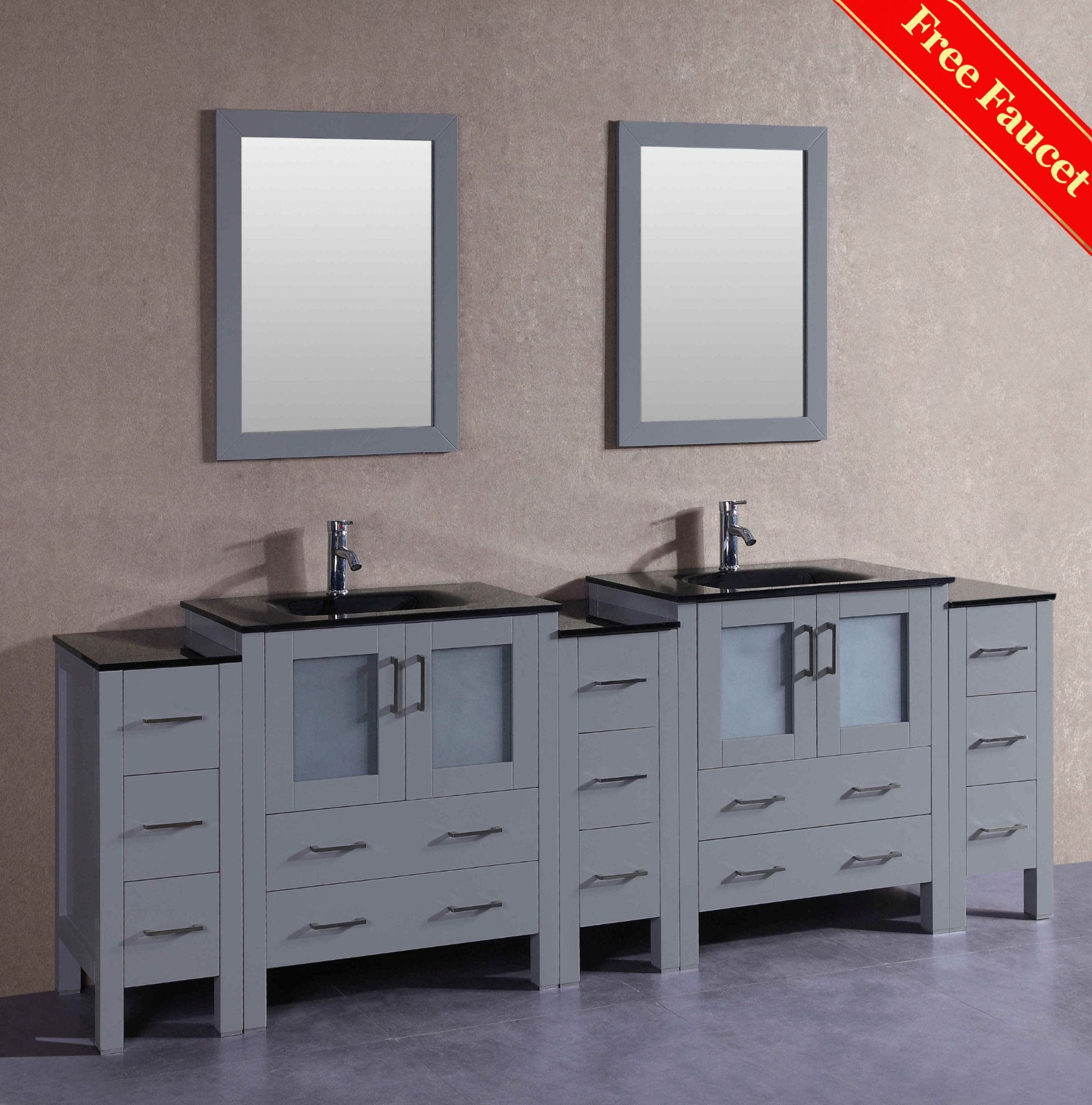 "96"" Bosconi AGR230BGU3S Double Vanity Products"