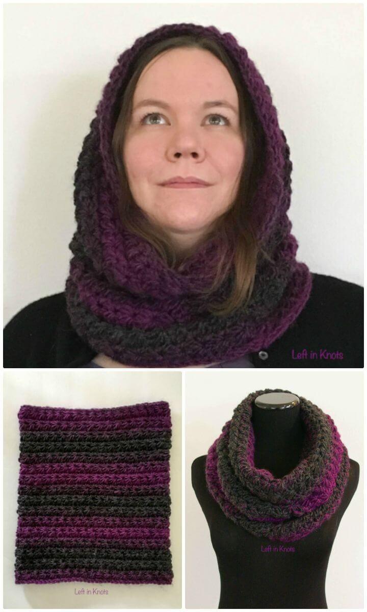 28 Free Crochet Hooded Cowl Patterns | Crochet, Crochet hooded cowl ...