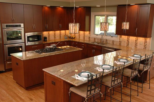 Square Shaped Kitchen With Island | Space For The Island And Work Aisles  And For Functional Use The Island .