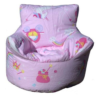 Unicorn Bean Chair Pink With Images Childrens Bean