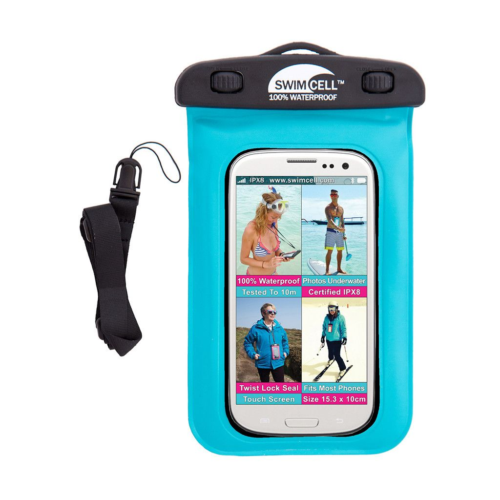 SwimCell 100% Waterproof Phone Case - Standard (up to 10 x