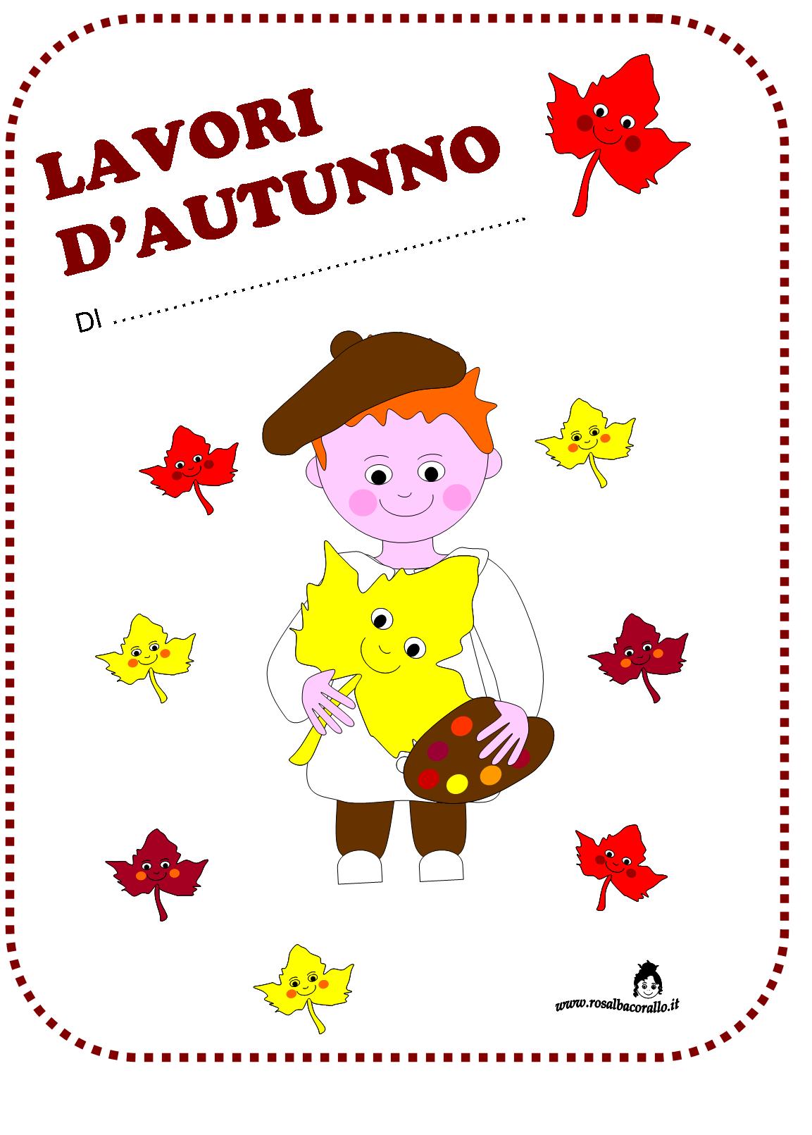 Autunno lavoretti disegni poesie per bambini autunno for Addobbi finestre autunno scuola infanzia