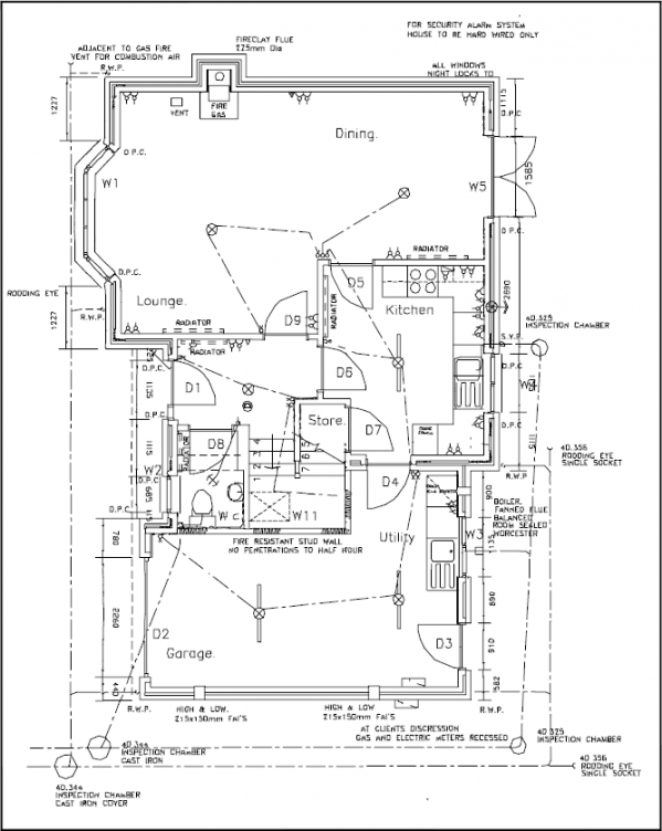 Typical house ground floor ar 316 pinterest for Typical house floor plan