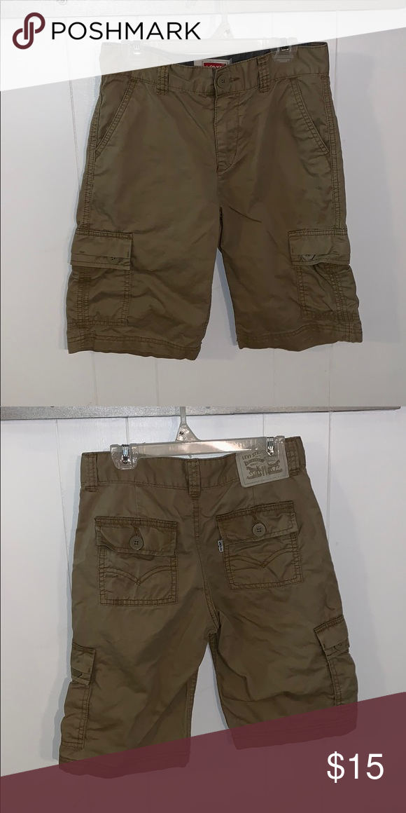 fa5b1dfbad Boys size 10 Levi's khaki cargo shorts Like new, no rips or stains ...