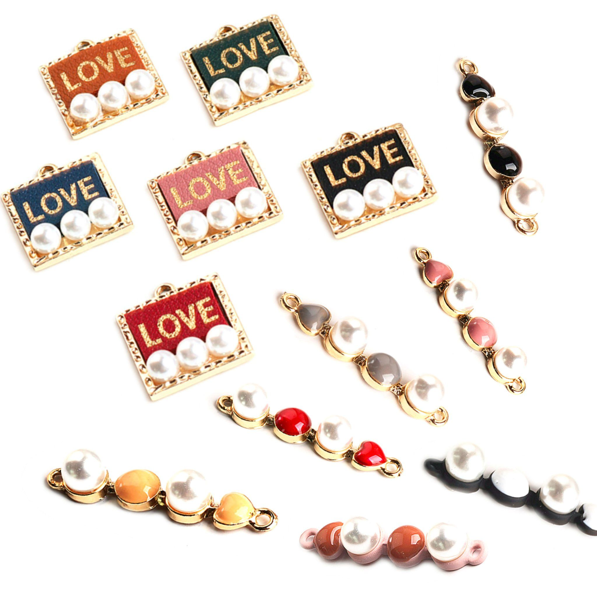 Charms for Earrings Love Connector Pendants stud Earring Making