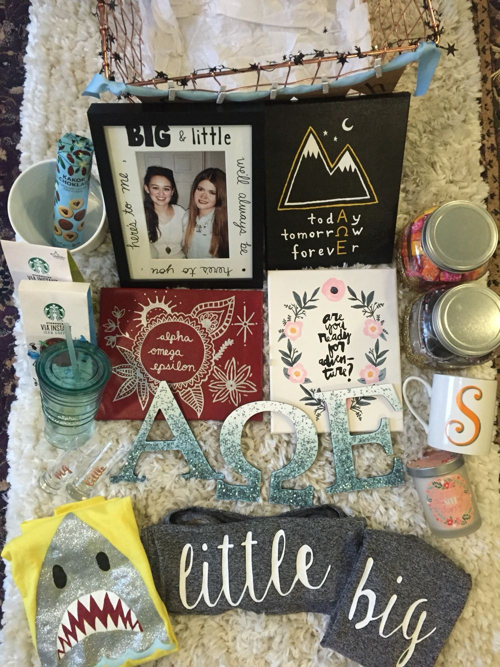 Alpha Omega Epsilon Sorority Big Little Basket Gift And