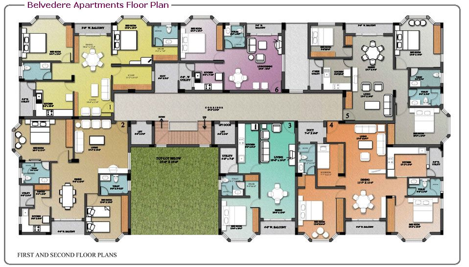 Coolest floor plans google search home floorplans for Apartment villa design