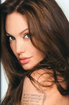 beautiful face jolie Angelina