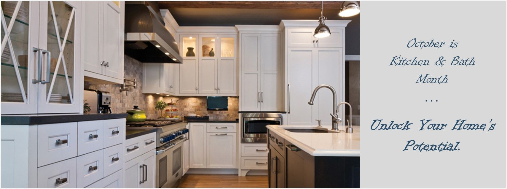 October Is National Kitchen And Bath Month Kitchen And Bath Kitchen Home
