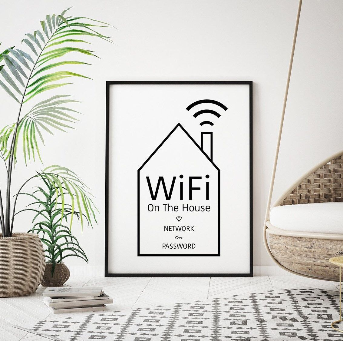 Excited to share this item from my #etsy shop: WIFI Password ...