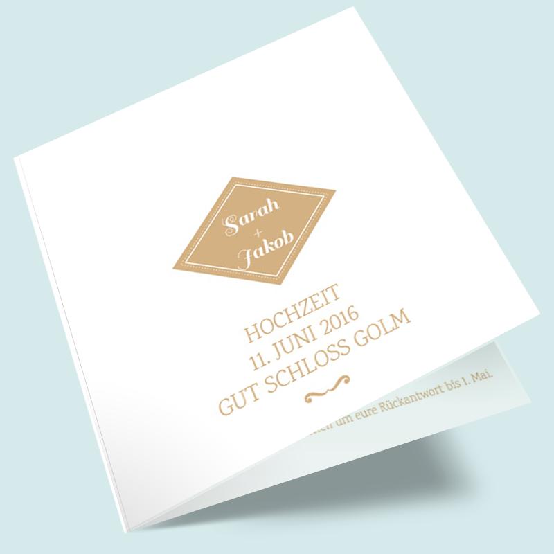 Vintage Hochzeitseinladungen Wir trauen uns Hochzeitskarten