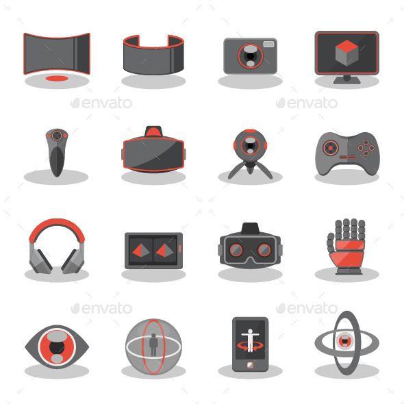 Flat Icons For Virtual Reality Flat Icon Virtual Reality Icon