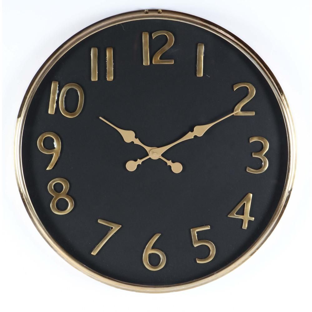 Appealing Black And Golden Wall Clock Products Pinterest Wall