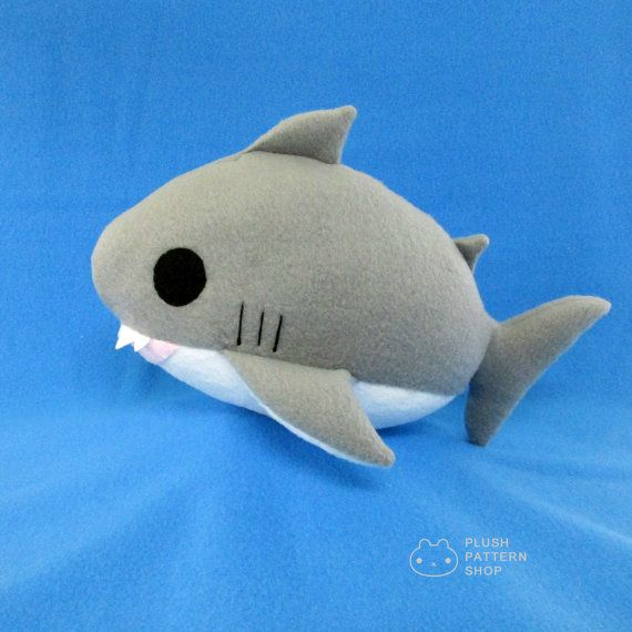 Plush Shark Pdf Shark Sewing Pattern Great White Shark