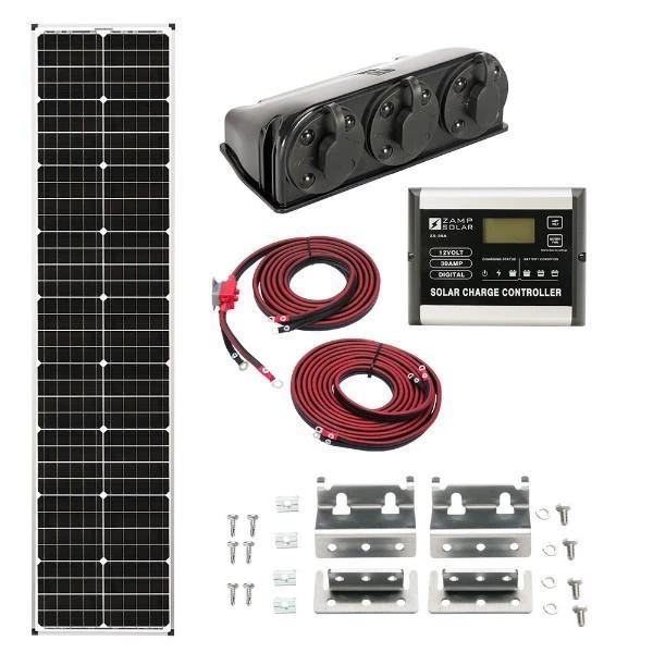 Zamp Solar 90w Deluxe Solar Kit Long Narrow Series Solar Kit Solar Energy Panels Solar Power Panels