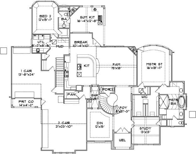 House Plan Square Feet 4 Bedroom House Plans Bungalow House