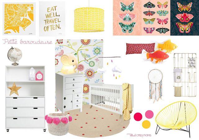 Pellmell Créations: Liste shopping : Une chambre pour une petite baroudeuse