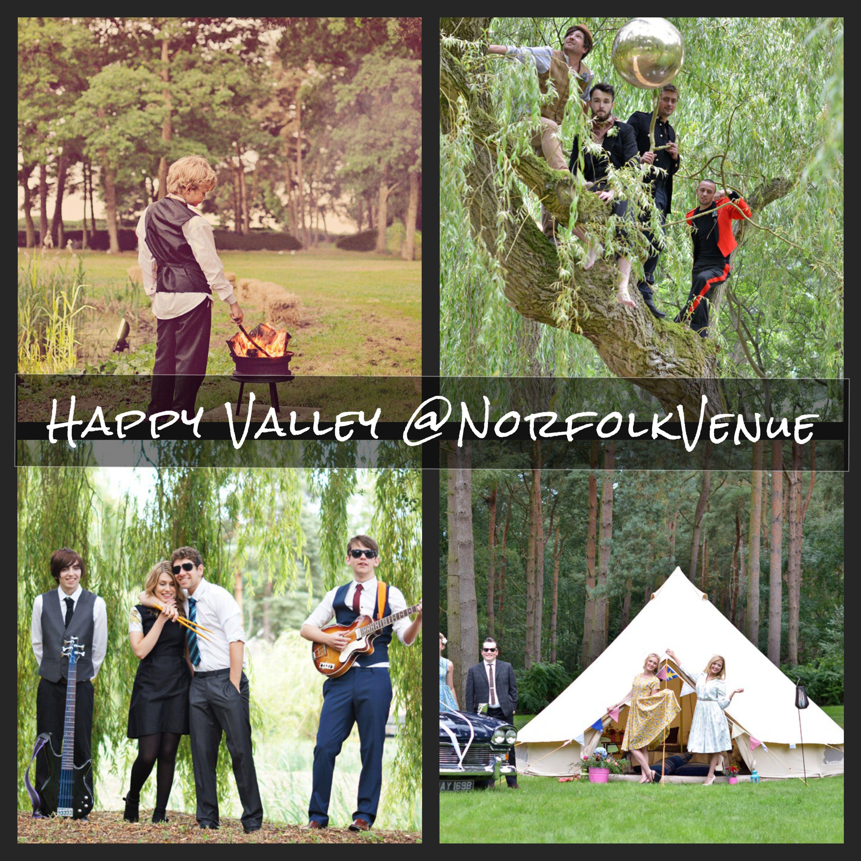 Happy Valley Norfolk - Norfolk Venue #Festivalweddings #woodlandweddings  #musicvenue #filmvenue #photoshoots