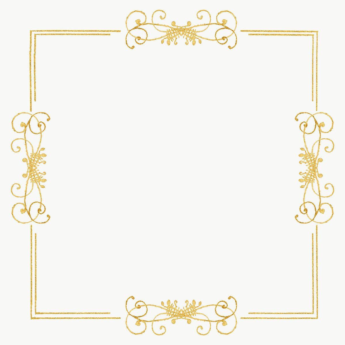Gold Filigree Frame Border Png Free Image By Rawpixel Com Hwangmangjoo Free Illustrations Antique Artwork Gold Filigree
