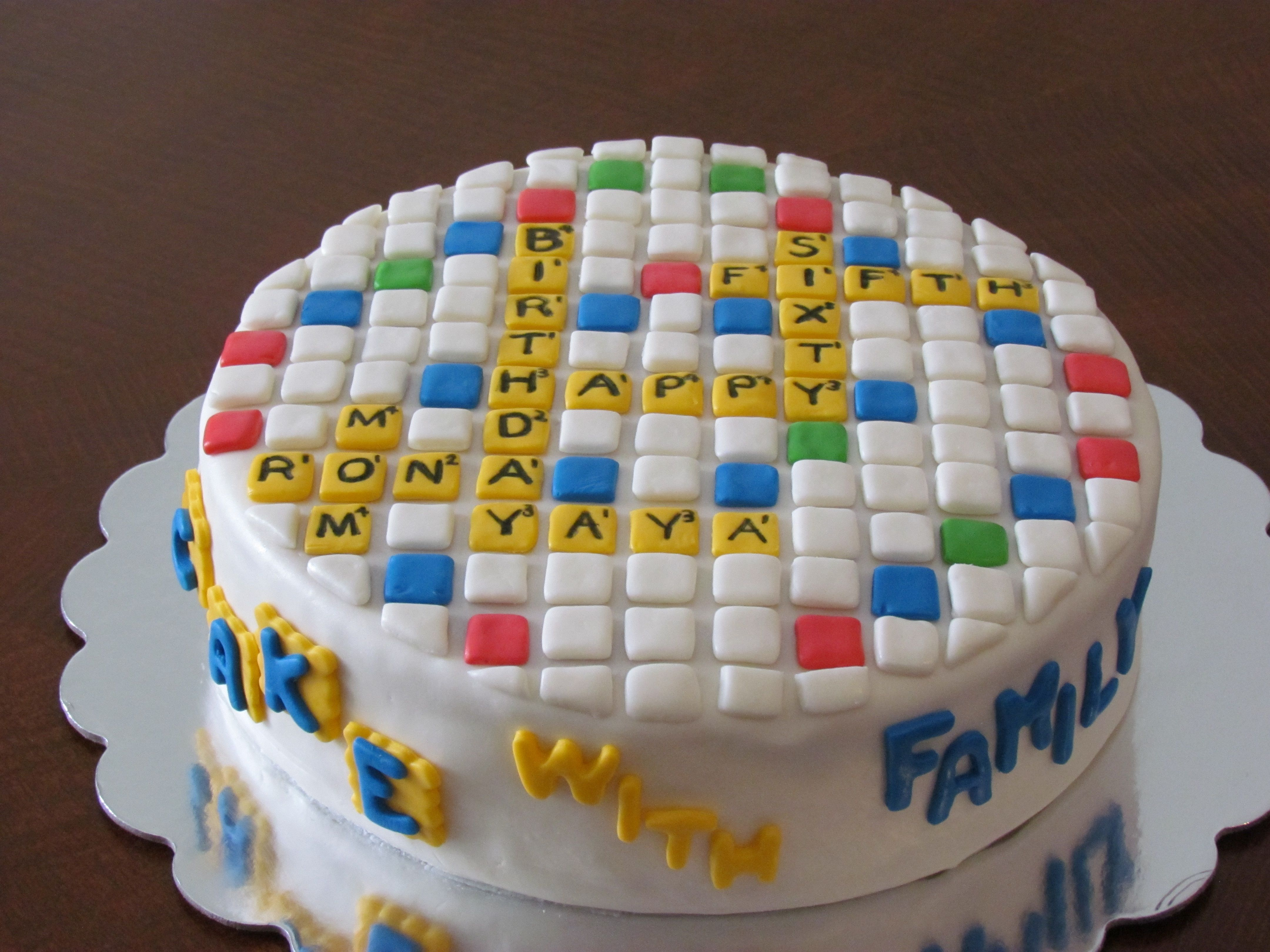 Air force cake decorations home furniture decors creating the - Words With Friends Birthday Cake I Made This For My Mom S Birthday She Loves Playing Words With Friends The Front Says Cake With Family All Fondant