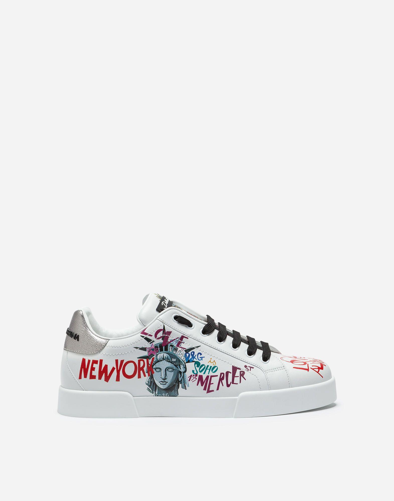 Sneakers Calfskin In Dolceamp; Nappa Portofino Gabbana Printed MSpzqUV