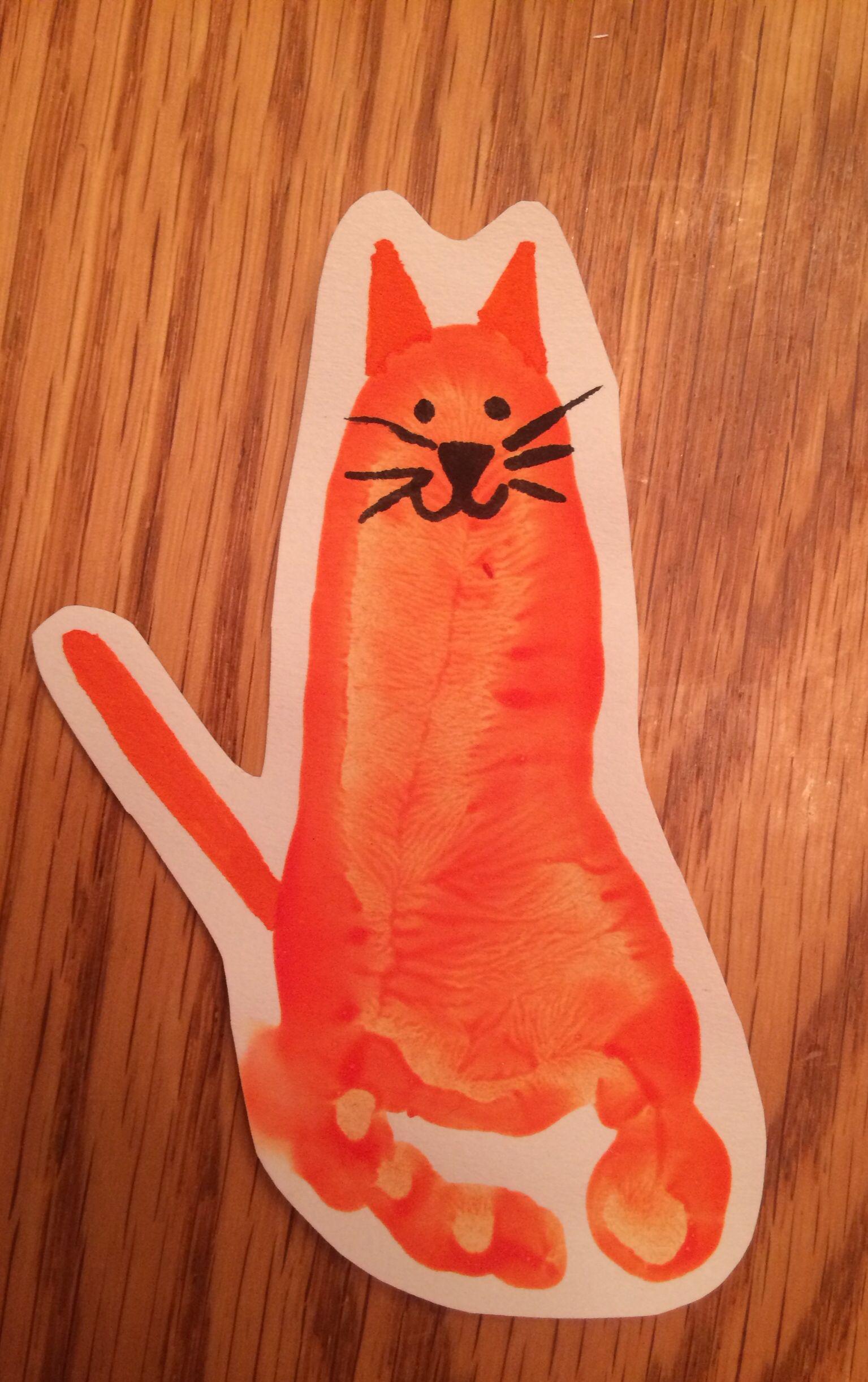 Handprint Cat
