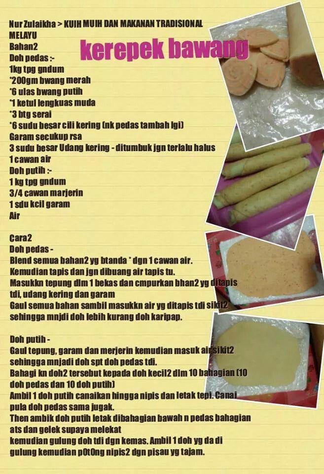 Kerepek Bawang Asian Recipes Asian Snacks Malaysian Food