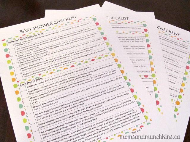 Baby Shower Juegos Modernos ~ Baby shower checklist free printable globo y bebé