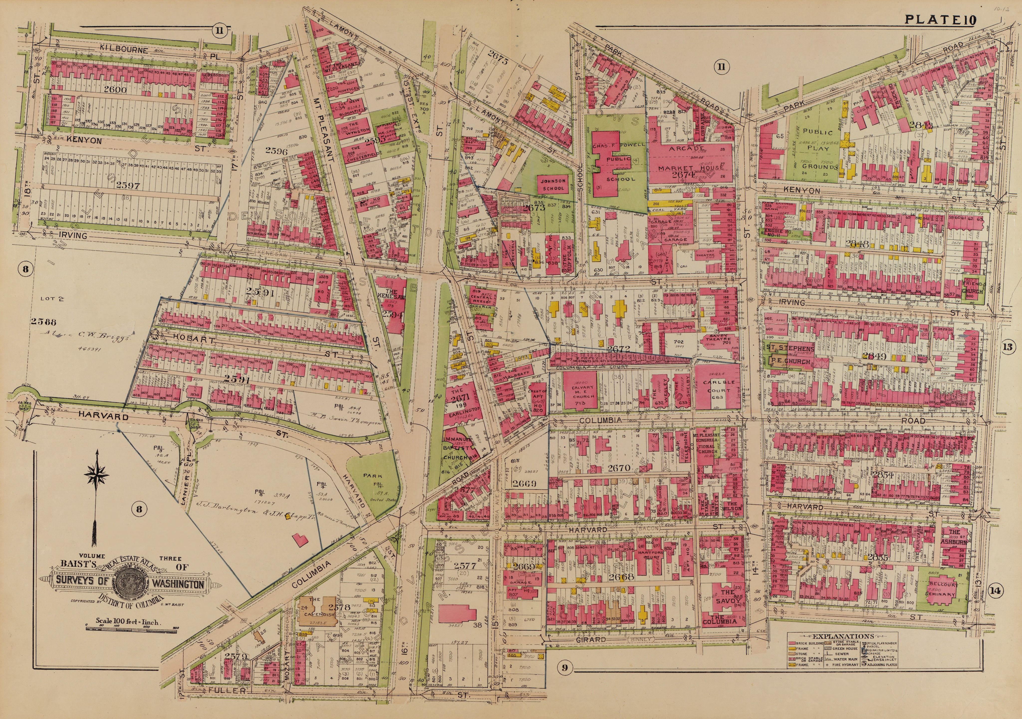 1919 map of Columbia Heights Old DC Pinterest