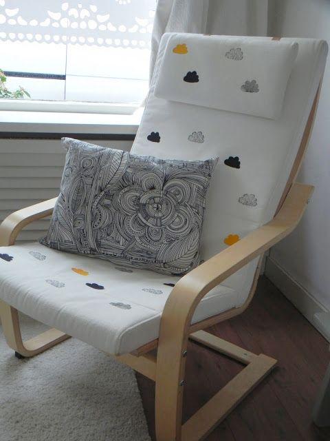 Stamped Ikea Chair Ikea Hackers Ikea Chair Ikea Poang Chair Ikea Nursery Hack