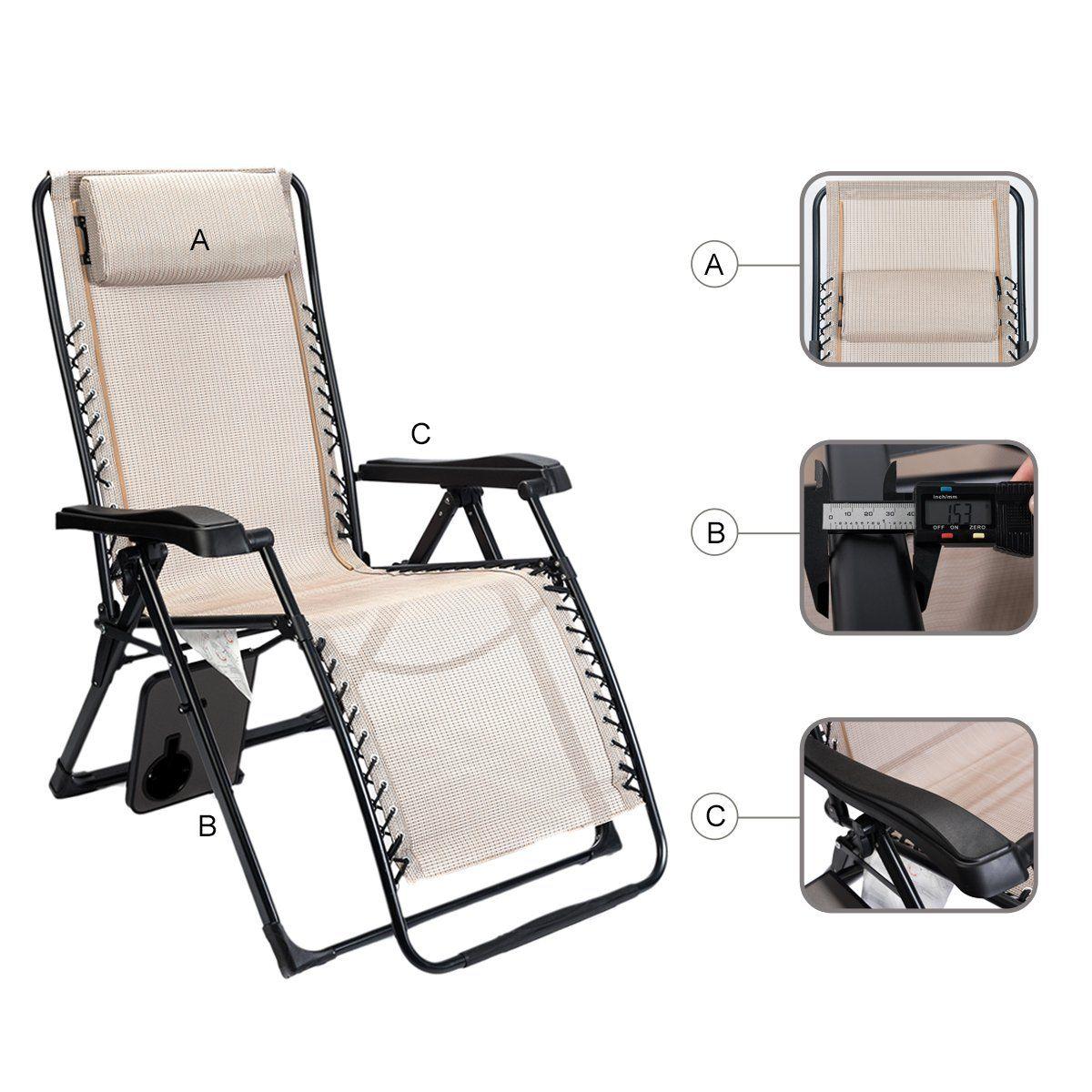 Timber Ridge Zero Gravity Lounge Chair Oversize XL