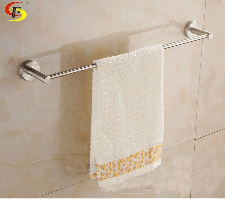 Single Pole Square SUS304 Stainless Steel Wire Drawing Towel Bar