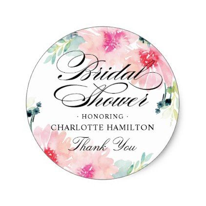 #shower - #Bridal Shower Favor Stickers | Daisy Watercolor