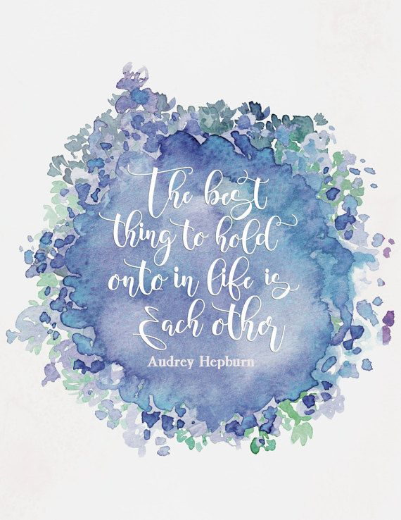 Audrey Hepburn Quotes Watercolour Print Audrey by WhiteEarsDesigns