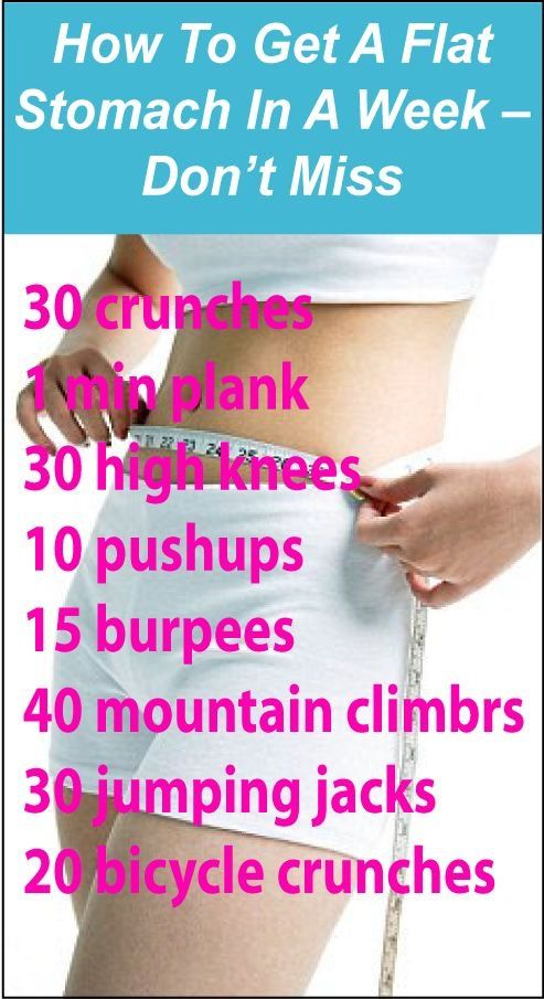 0d808034e5246637a634a66ef9c016b4 - How To Get Flat Stomach In One Week At Home