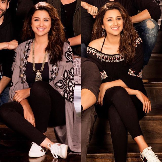 Parineeti's look for #GolmaalAgain! Boho chic? I think so! 😍 I'm super loving this earthy vibe she's giving off with her outfits and I'm super excited to see what her character is like for the film. @parineetichopra love you babe. Loving the new look, just keep the surprises coming 🙌❤