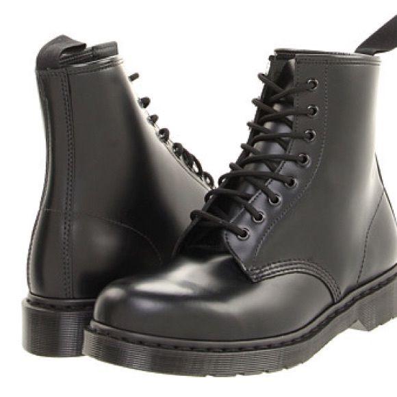 Mens Black Boots Size 8