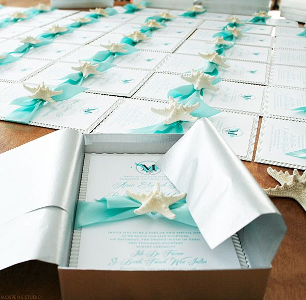 Beautiful Beach Wedding Invitations Starfish Beach and Wedding
