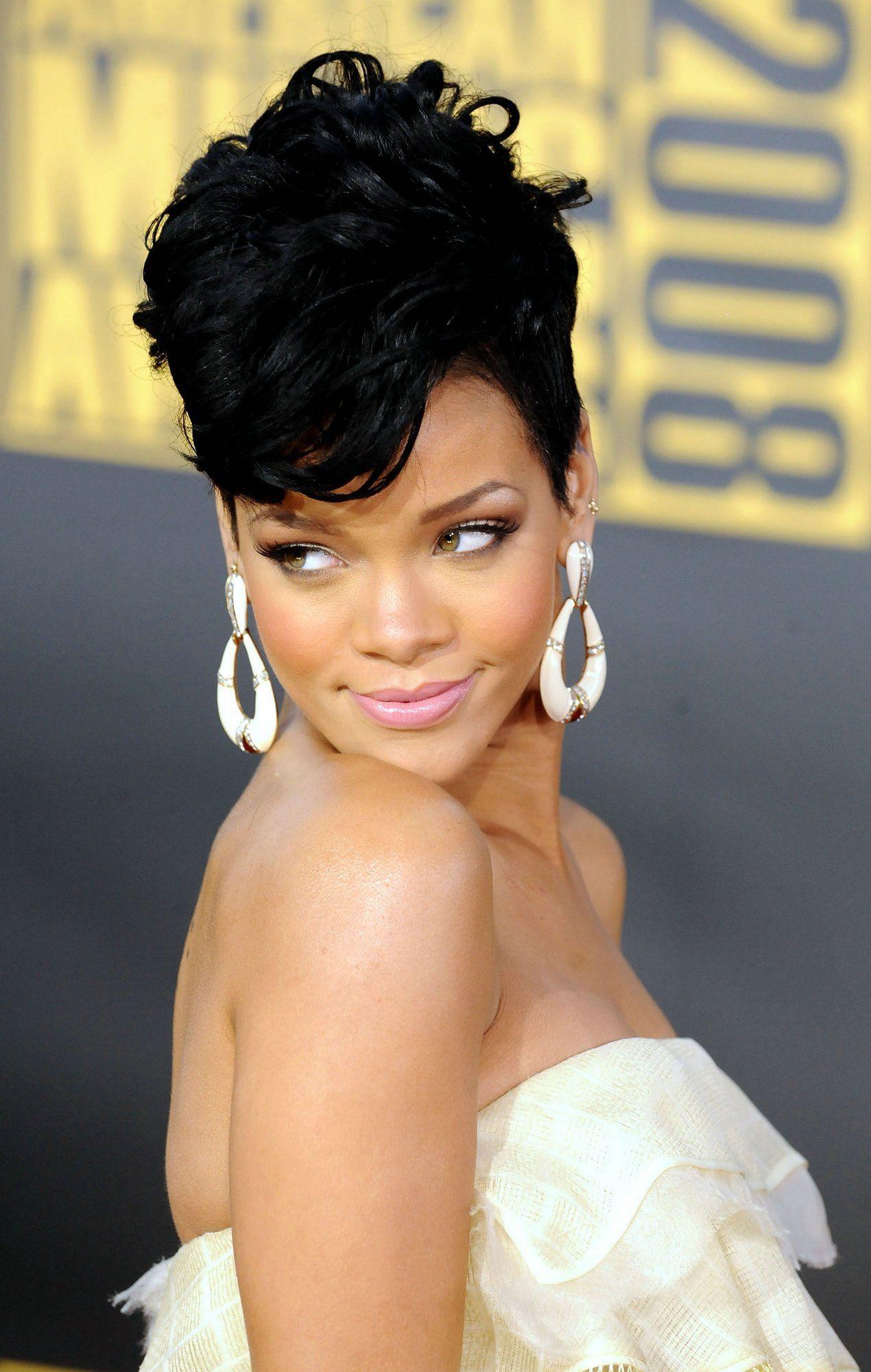 Pleasing 1000 Images About Lt3 Rihanna On Pinterest Rihanna Rihanna Short Hairstyles For Black Women Fulllsitofus