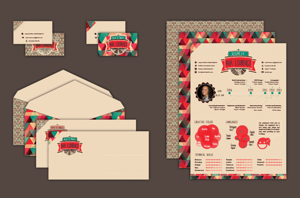 infographic cv by ana louren u00e7o  via behance