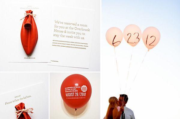 hochzeitsdekoration mit luftballons | friedatheres | hochzeit, Einladung