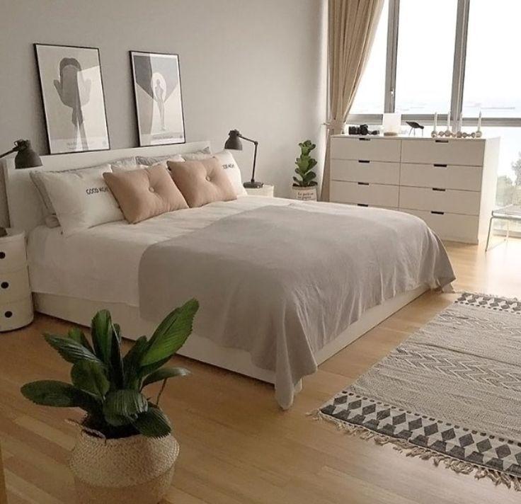 Chambre beige Chic épurée Blanc | Déco chambre chic ...